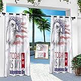 Aishare Store - Cortina para patio al aire libre, 4 de julio, diseño de águila calva, 84 pulgadas de largo, resistente panel interior para porche, balcón, pérgola, toldo de carpa (1 panel)