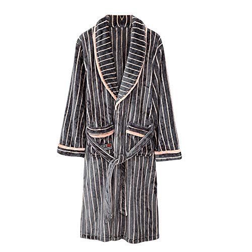 HUAHUA HOMEWEAR Parejas de invierno gruesas calientes kimono del traje de baño de las mujeres de los hombres del vestido de franela lujoso albornoz Yukata amantes ropa de dormir unisex súper blando Ho
