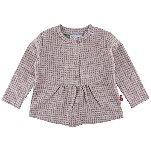 Fixoni Langarm Shirt Blouse, Rose (Silver Pink 20-35), 1 Mois Bébé Fille