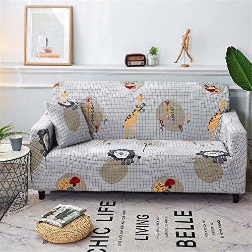 Fansu Funda elástica de sofá, Funda de Sofá Universal Elástica Tejido Elástico Sofá Proteger Decoración del Hogar Antideslizante (1 Asiento: 90-140cm,Animal)