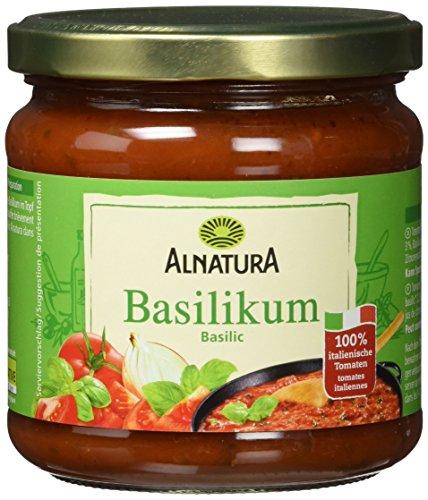 Alnatura Bio Tomatensauce Basilikum, 6er Pack (6 x 350 ml)