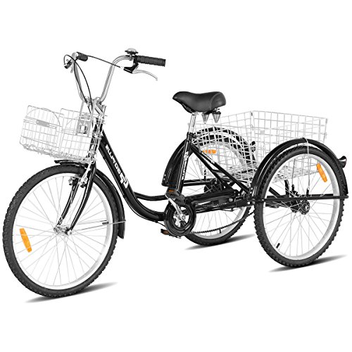 Goplus Adult Tricycle Trike Cruise Bike Three-Wheeled Bicycle with Large Size...