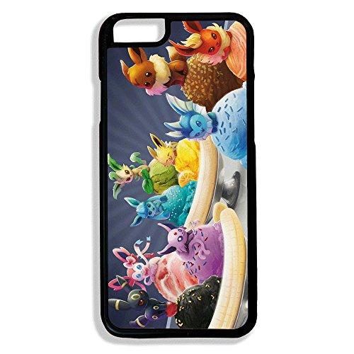 Chamalow Shop Coque pour iPhone 6 Banana Split Eeveelution (Noctali, Pyroli, Aquali, Voltali, Givrali, Mentali, Pyllali, Nymphali) évolutions du Pokemon Evoli, Chibi et Kawaii
