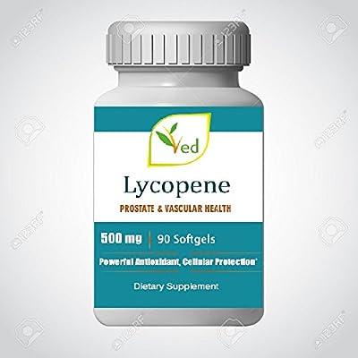 Ved Lycopene supplement | Super Strength, Prostate & Heart Health | Super Antioxidant | 500mg x 90 Softgel