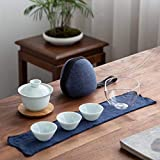 QCCOKNN Taza de té de cerámica gaiwan Celadon para juego de té de viaje Puer Kung Fu Set de té