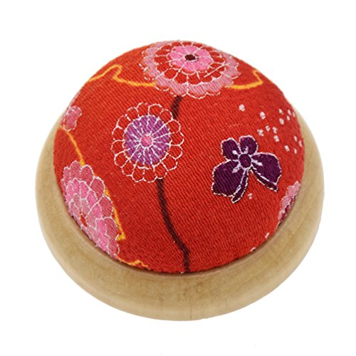 YNuth Needle Pin Cushion Sewing Accessory Round Needle Pin Cushion with Wooden Base
