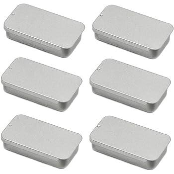 SLUDFH 6 Piezas Mini Caja PequeñA de Metal Rectangular VacíA de Almacenamiento Organizador de Hogar para Almacenamiento de ArtíCulos PequeñOs, 2.4 * 1.4 * 0.5 Inch: Amazon.es: Joyería