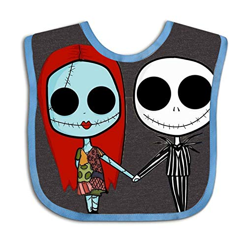 The Nightmare Before Christmas Personalized Scarf Bib Feeding & Teething Fancy Baby Bibs and Burp Cloth Polyester Cotton