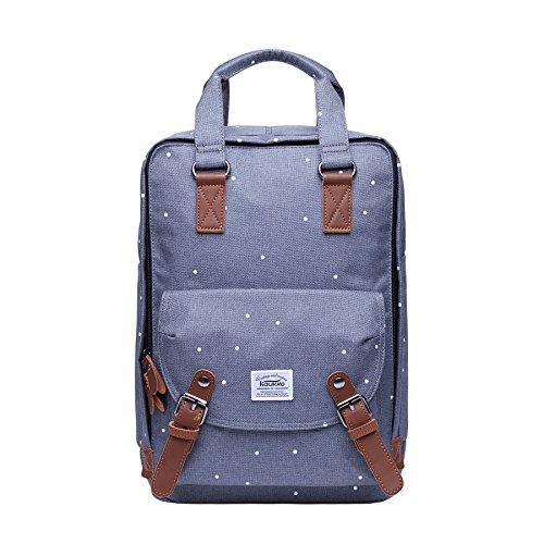 Kaukko Stylisch Laptop Handtasche Schulrucksack Daypacks (Grau JNL-06-09-FBA)