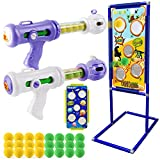 Toys for Boys Ages 4 5 6 7 8 9 10 + Year Old, Shooting Game Toy with Dinosaur & Space Target, Foam Ball Popper Air Gun Gift for Kids Birthday or Christmas, Compatible with Nerf Toy Guns