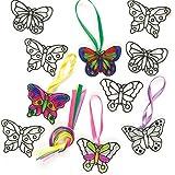 """Baker Ross ET815 Ross Suncatcher-Fensterdeko """"Schmetterling"""" aus Acrylglas zum Basteln und Aufhängen für Kinder ideal für Frühling - 12 Stück -"""