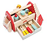 Le Toy Van - Cars & Construction Educational Wooden Tool Box Play Set for Role Play | Boys Pretend Play Wooden Tools - Suitable for 3 Year Olds and Older