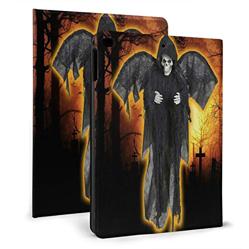 Grim Reaper with Wings Skeleton Spooky Halloween Decoration Ipad Case mini4/5 & ipad air1/2 TPU Protective Stand Cover with Auto Sleep Wake Up Ipad for IPad 7.9'&9.7' Tablet