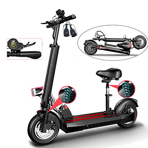 Patinete Eléctrico Scooter Plegable E-Scooter, Pantalla LCD, Velocidad 45km/h, 10