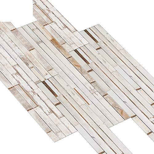 rutschfeste Selbstklebende Vinylboden, wasserdichte PVC Holzmaserung Dekorativen Boden Holzboden Fliesenaufkleber, Fliesenboden Aufkleber Wohnzimmer Schlafzimmer KüChe (36,02