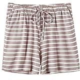 Tomatoa Damen Kurze Hose Sommer Hohe Taille Shorts Frauen Schlafanzughose Pyjamahose Sleep Hose Laufshorts Yogahose S - XL