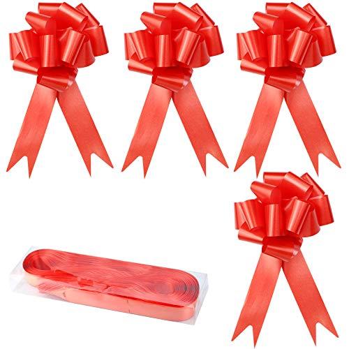 YapitHome 30 Piezas Lazos Regalos Grandes Lazos Grandes Rojo Lazos Decorativos, para Decoración de Navidad, Boda, Fiesta, Día de San Valentín y Lazo de Regalo de Cumpleaños (Rojo)