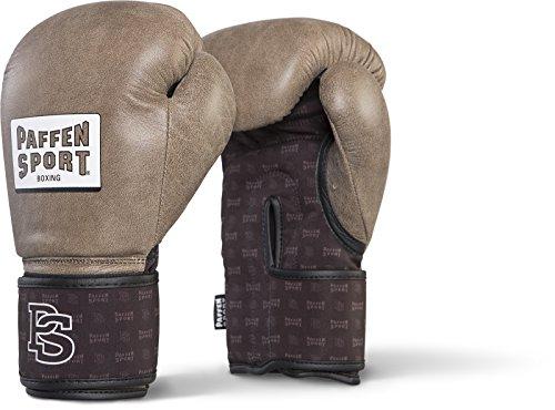Paffen Sport Allround DRYHAND Boxhandschuhe für das Training; Vintage braun/schwarz; 10UZ