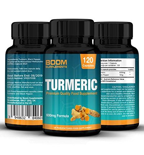 Curcuma extra fort 600mg | 120 capsules de curcuma bio gelule | Traitement pour 4 mois complets | Sans dangers et efficace | Garantie 30 jours satisfait ou remboursé