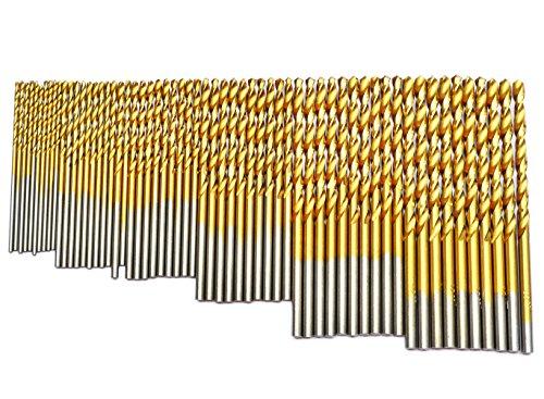 BOSTAL 60Pcs Drill Bits Set 1/8 1/16 3/64 5/64 3/32 7/64 Professional Twist Drill Bit Set Industry HSS TIN Coated Jobbers Length Mini Micro Drill Perfect Use for Steel Wood Plastic Aluminum Alloy