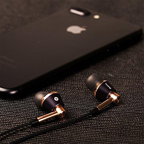 1MORE Triple Driver In-Ear Kopfhörer (Earphones/Earbuds/Headset) Apple iOS und Android kompatibel Mikrofon und Fernbedienung (Schwarz/Gold)