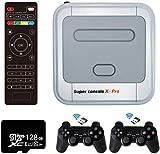 Super Console X Pro Retro Game Console, 50+ emuladores, construído em 41.000+ jogos, Video Game Player com Dual 2.4G Wireless Controllers, Game Consoles para 4K TV, Open Linux System com 128G TF Card