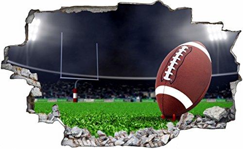 DesFoli Football USA 3D Look Wandtattoo 70 x 115 cm Wanddurchbruch Wandbild Sticker Aufkleber C537
