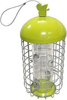 GAO-bo Alimentadores de Aves, alimentador de pájaros Anti-Ardilla Redondo de Hierro Recto Cian, alimentador de Mascotas co...