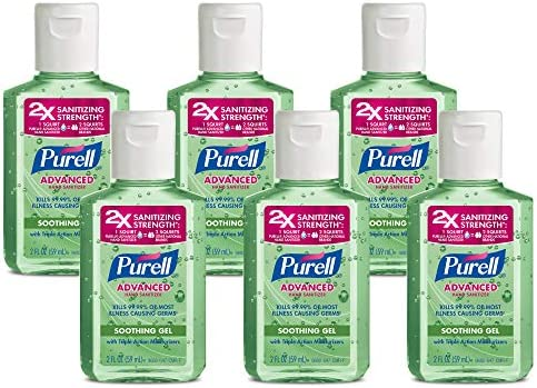 PURELL Advanced Hand Sanitizer Soothing Gel Fresh Scent with Aloe and Vitamin E 2 fl oz Travel product image