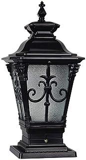 SEESEE.U Aluminum E27 Garden Community Square Wall Pillar Lamp Outdoor Waterproof Villa Gate Light Door Column Lamp Lanter...