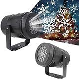 Christmas Snowflake Light Snowfall Projector - Snowfall Christmas Light Projector, Indoor Outdoor Holiday Projector Lights