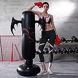 LONEEDY - Saco de boxeo hinchable de pie para adultos y adolescentes, para entrenamiento intenso, gimnasia, deportes, alivio del estrés, devil