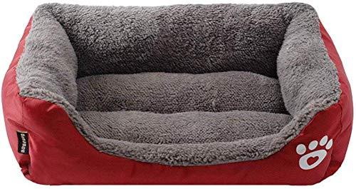 Lifemaison Cuccia Letto per Animali Domestici Canile Estraibile e Lavabile Letto per Cane Gatto S-3XL (58cmx45cmx14cm, Borgogna)
