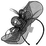 McBurn Sarinda Haarschmuck Damen - Damenaccessoire Hochzeitsschmuck Kopfschmuck Frühling-Sommer Herbst-Winter - One Size schwarz