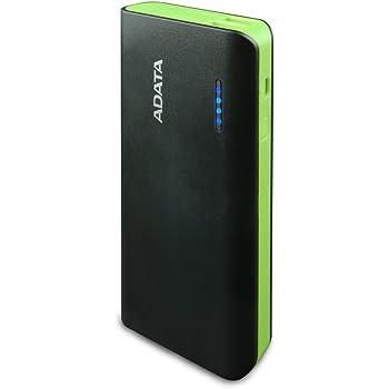 ADATA Powerbank Batería Portatil Color Negro con Verde 10000 mAh (Modelo PT100)