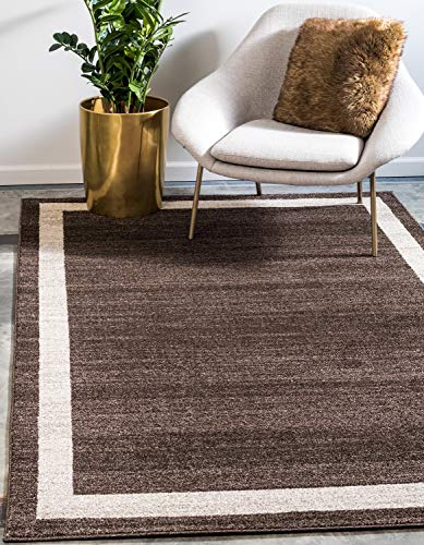 Unique Loom Del Mar Collection Contemporary Transitional Brown Area Rug (7' 0 x 10' 0)