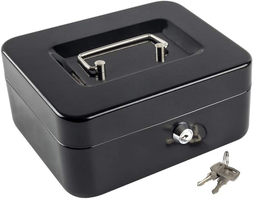 KYODOLED Medium Cash Max 83% OFF Box with Money Super beauty product restock quality top! Small Tray Safe wit Lock