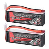 GOLDBAT 3S RC Battery 5200mAh 11.1V 80C Lipo RC Battery Softcase with Deans T Plug for RC...