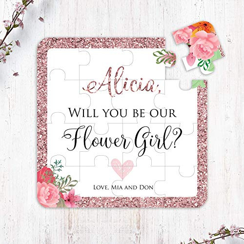 Will You Be My Flower Girl Puzzle, Rose Gold Will You Be Our Flower Girl Gift, Flower Girl Proposal, Will you be my, Flower Girl Cute Gift