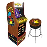 Arcade 1Up Arcade1Up Pac-Man 40th Anniversary Special Edition Arcade Game Machine with Marquee Riser and Stool - Electronic Games 815221021419