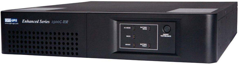 Opti UPS ES1500C-RM Enhanced Series 8-Outlet UPS Rackmount Line Interactive Uninterruptible Power Supply Backup Battery Rack Mount, Automatic Voltage Regulator AVR