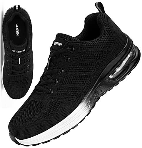 UDIRINI Zapatos de Seguridad para Hombre Air Cushion Ligeros Comodo Transpirables Zapatillas de Trabajo con Punta de Acero (Crepúsculo,43 EU)