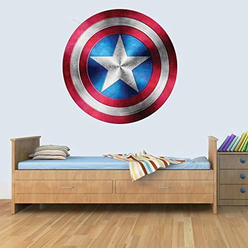 GNG Kapitän Amerika Schild Superheld Kinder Junge MädChen Wunder Rächer Aufkleber decoratif Wandbild Kunst Aufkleber 72cm