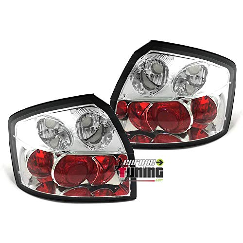 europetuning - 10235 - FEUX ARRIERES ROUGES CHROME A4 B6 8E BERLINE 2000-2004