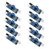 HiLetgo 10pcs IR Infrared Obstacle Avoidance Sensor Module for Arduino Smart Car Robot 3-Wire Reflective Photoelectric for Arduino Smart Car Robot