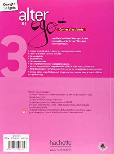 『Alter Ego + 3: Cahier d'Activités + CD Audio: Alter Ego + 3: Cahier d'Activités + CD Audio』の1枚目の画像