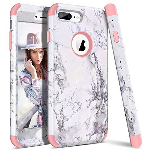 WE LOVE CASE Funda iPhone 7 Plus, Rígida Diseño Hard Cáscara Bumper Dura Funda iPhone 7 Plus Caso Ultra Delgado Funda iPhone 7 Plus Cubierta de Protección Heavy Duty Funda iPhone 7 Plus Rose Gold