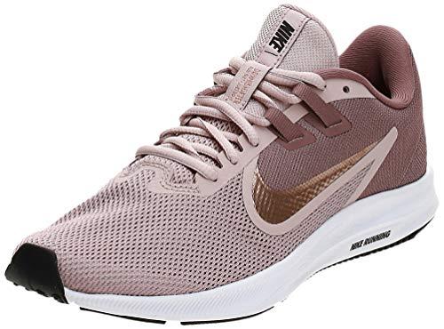 Nike Womens Downshifter 9 Running Shoe, Smokey Mauve/MTLC Red Bronze-Stone Mauve, 41 EU