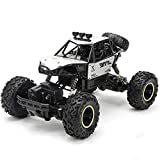 Pinjeer Four-Wheel Drive Remote Control Car High-Speed Climbing Racing 4-Battery Silver-s