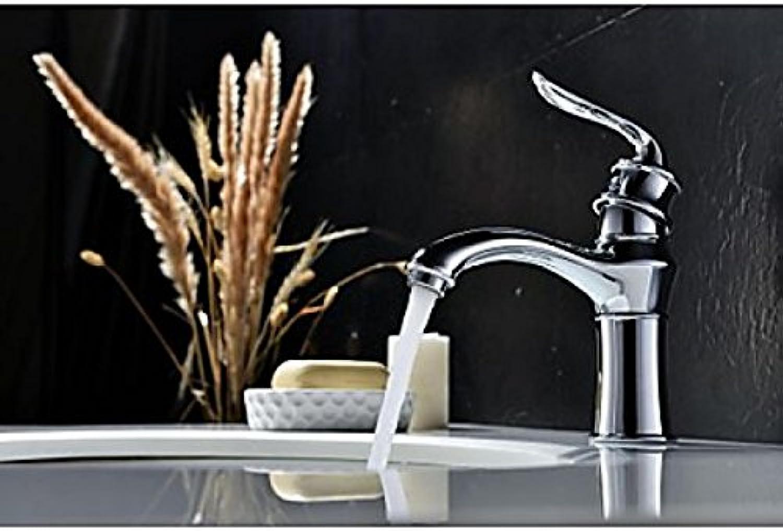 Robinet de lavabo à poignée unique, style contemporain fini en chrome